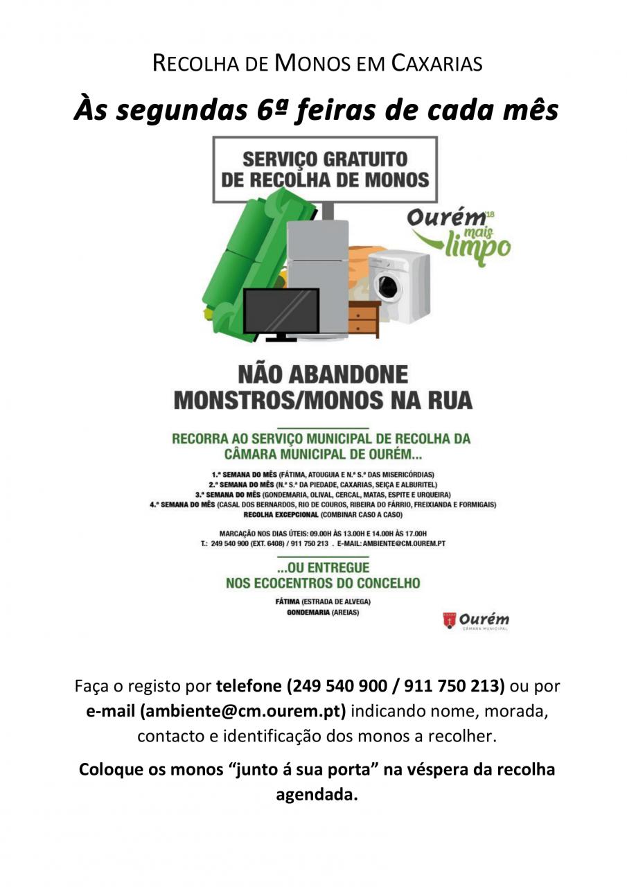RECOLHA DE MONOS EM CAXARIAS